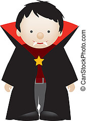 dracula - little boy dressed up as a cute dracula