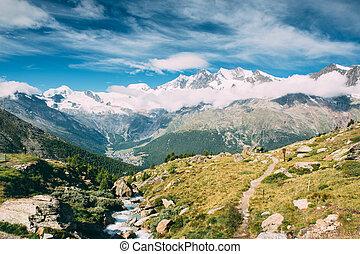 Snow mountain - Beautiful view of snow mountains lanscape