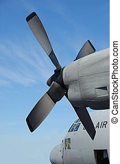 Military transport Plane Props - Military transport airplane...