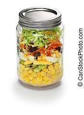 蔬菜, 玻璃, 罐子, 沙拉
