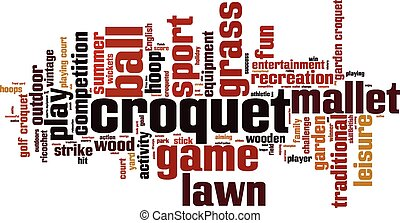 Croquet word cloud concept Vector illustration