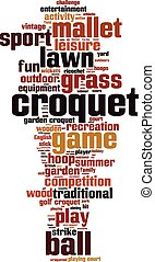 Croquet word cloud concept. Vector illustration