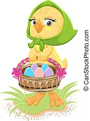 Easter - chicken holding a basket