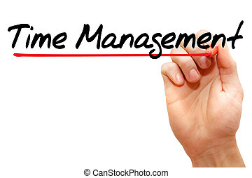 Hand writing Time Management, business concept - Hand...