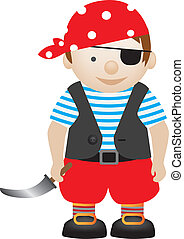 pirate boy - boy playing dress up as a pirate