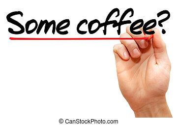 conceito, café, algum, escrita, mão