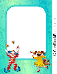 Purim Celebration Page Border - A turquoise page border...