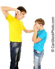 Teenager threaten Kid - Teenager threaten a Kid on the White...