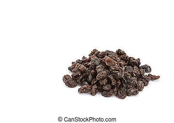 Raisin on a white background - Close up raisin isolated on...