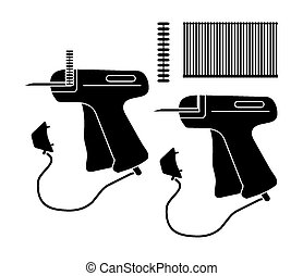 tag price gun - silhouette - suitable for illustrations
