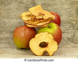 apple chips on wod backgrond