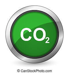 carbon dioxide green icon co2 sign