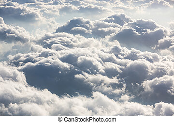 sky with clouds - Beautiful sky with clouds, a view from an...