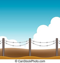 Barbed Wire Fence Background - An image of a barbed wire...