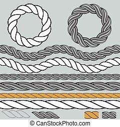 Rope Icon Background Set