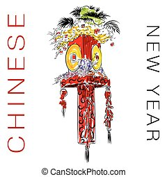 Chinese New Year Decoration - An image of a Chinese New Year...