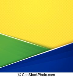Abstract geometric background with Brazil flag colors Vector...