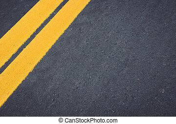 asphalte, route,