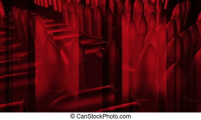 Red Bullet Abstract Animation Loop - CG Red Bullet Abstract...