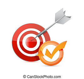 target check mark cycle illustration design over white
