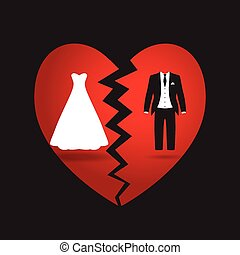 bride and groom break up