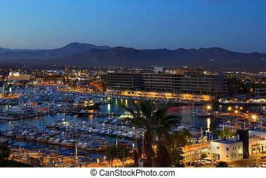 Los Cabos, Mexico night view from above - Los Cabos (Cabo...