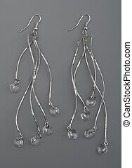 Earrings with gems