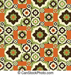 Seamless pattern retro design