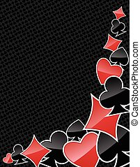 Abstract poker suits background - Gambling background with...