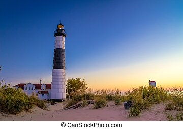 Great Lakes Lighthouse - The Big Sable Lighthouse on the...