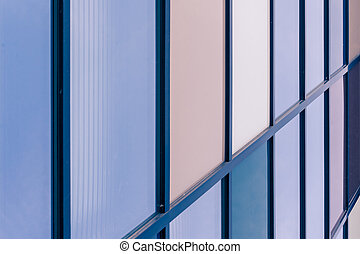 architectural lines of an industrial building - geometric...