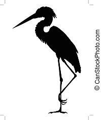heron - silhouette of heron