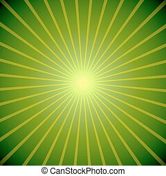 Abstract green burst St.Patricks Day vector background.