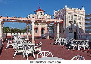 Palacio de Valle (1913-1917), Cienfuegos, Cuba - Cafe at Top...