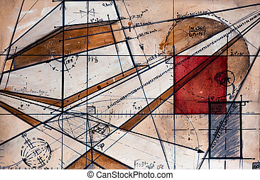 Real Contemporary Painting on Canvas with code, maths and...