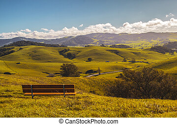 Park in Sonoma County - park with trees and fields in...