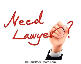 need lawyer written by 3d hand