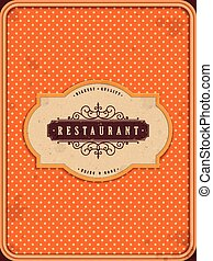 lovely orange restaurant menu