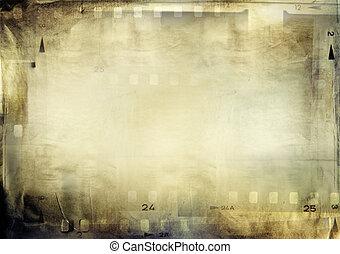 Film frames - Film negative frames on grunge paper