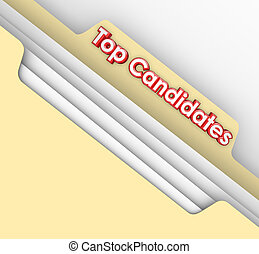 Top Candidates Manila File Folder Best Job Applicants...