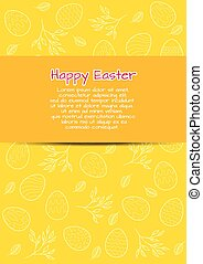Flyer template for Easter