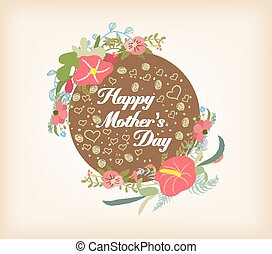 happy Mothers day with florals card