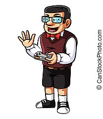 Gamer nerd illustration