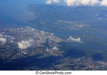 aerial view of Cairns - a aerial view of Cairns Queensland...