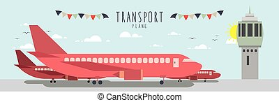 Plane Transportation - Vector file useful, which about Plane...