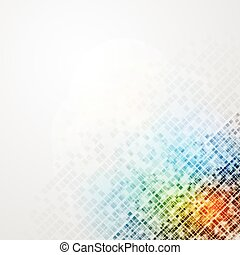 Colorful tech vector background - Colorful tech abstract...