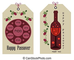 happy passover sale tag with object
