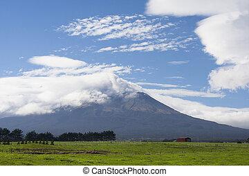 Mt Taranaki dormant volcano - A dormant volcano Mt Taranaki,...