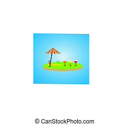 Summer vacation vector photo