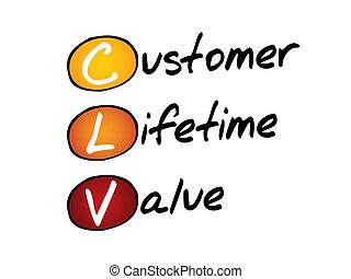 Customer Lifetime Value (CLV), business concept acronym